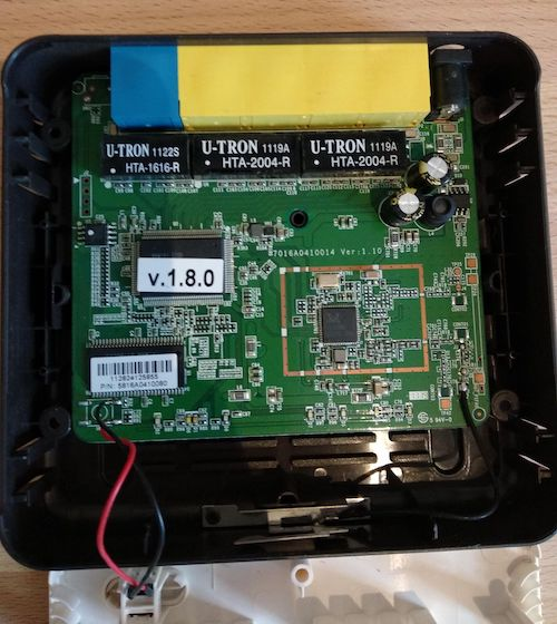 Inside of the Sitecom Wireless Router 150N X1